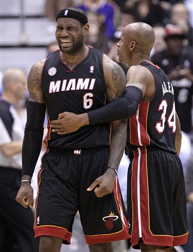 LeBron James, Ray Allen