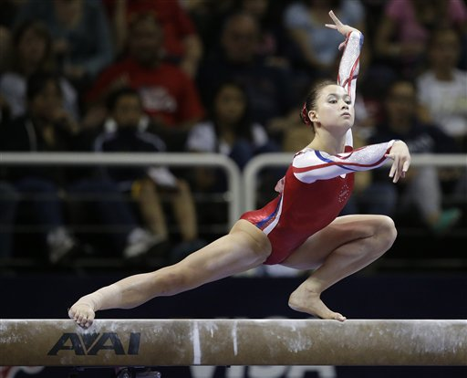CORRECTION Olympic Trials Gymnastics