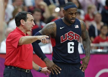 Mike Krzyzewski, LeBron James
