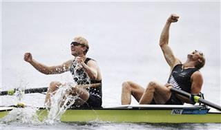 APTOPIX London Olympics Rowing Men