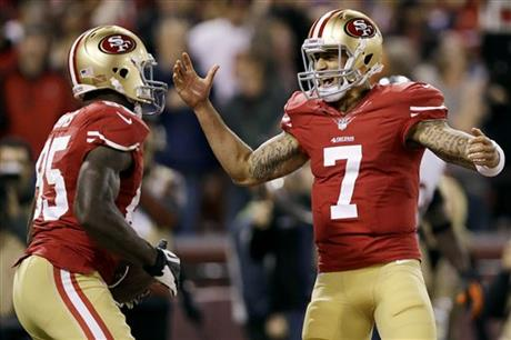 Vernon Davis, Colin Kaepernick