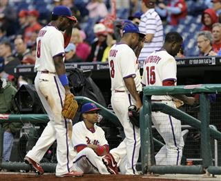 Ben Revere, Domonic Brown, Delmon Young, John Mayberry