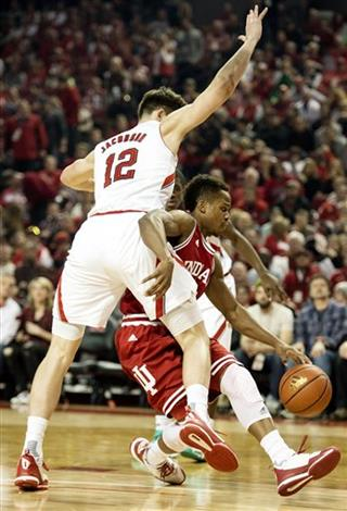 Nebraska v. Indiana, men's basketball, 01/02/2016