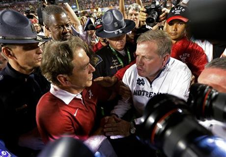 Nick Saban,Brian Kelly