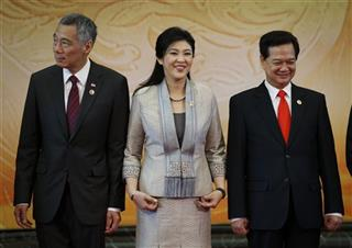Lee Hsien Loong, Yingluck Shinawatra, Nguyen Tan Dung 