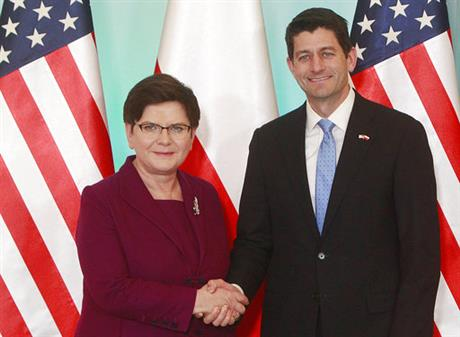 US congressional leader Ryan: US stands with NATO, Poland
