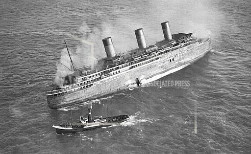 Associated Press International News At Sea LINER L'ATLANTIQUE BURNING 1933