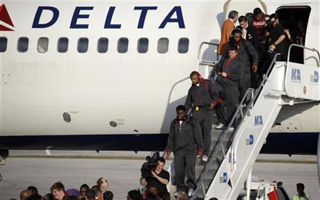BCS Team Arrivals Alabama Football