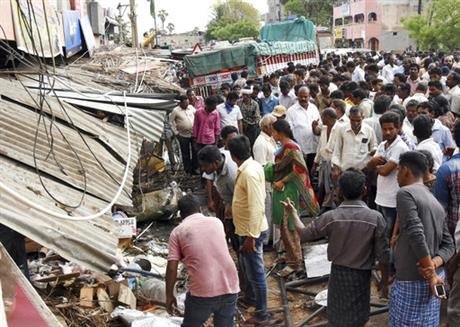 India Truck Hits Crowd