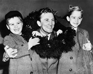 USA Kirk Douglas with Sons
