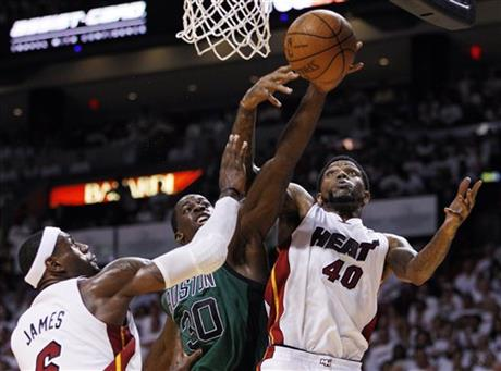 Brandon Bass, Udonis Haslem, LeBron James