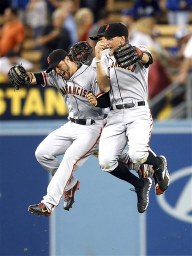 Gregor Blanco, Brandon Crawford, Angel Pagan