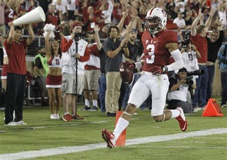 college football scheudle score of the stanford football game