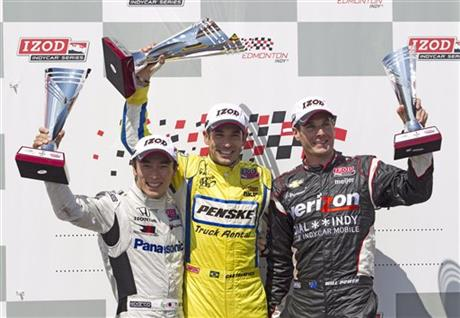 Takuma Sato, Will Power, Helio Castroneves