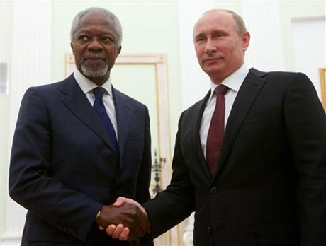 Vladimir Putin, Kofi Annan