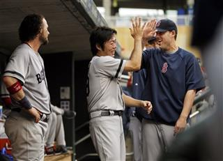 Koji Uehara, John Lackey, Jarrod Saltalamacchia