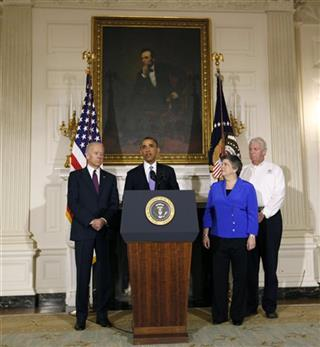 Barack Obama, Joe Biden, Janet Napolitano, RIchard Serino