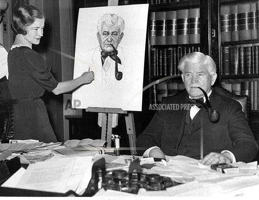 Watchf Associated Press Domestic News  Dist. of Col United States APHS46057 Rainey Poses For Senators Daughter 1933