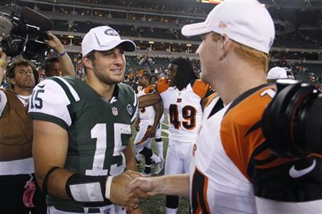 Tim Tebow, Andy Dalton