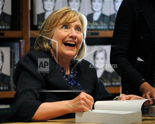 inVision Jeff Daly/Invision/AP ENT ENT FL United States T Hillary Clinton Book Signing