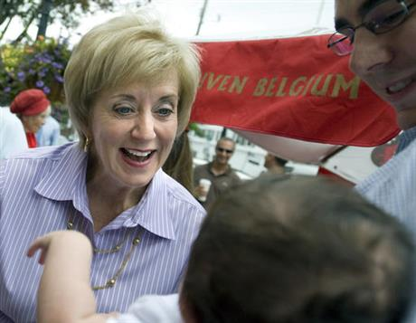 Linda McMahon, David Becker, Shelby Becker