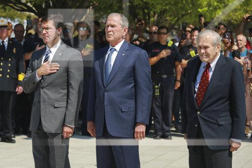 VA: George W. Bush attends September 11 Memorial ceremony at Pentagon