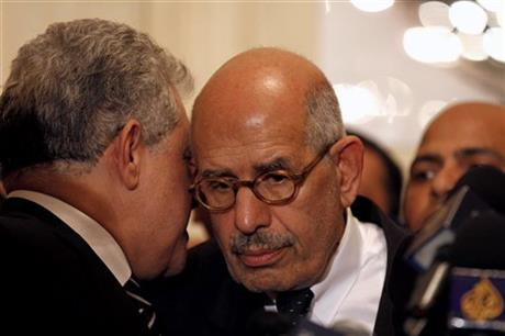 Mohamed El Baradei, Amr Moussa