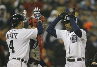 Austin Jackson, Omar Infante