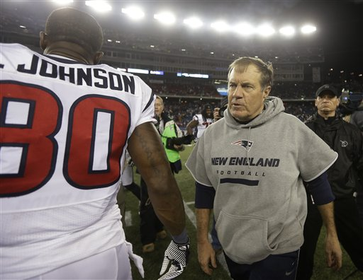 Andre Johnson, Bill Belichick