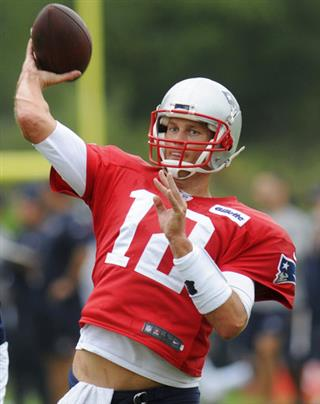 Patriots Texans Practice Football