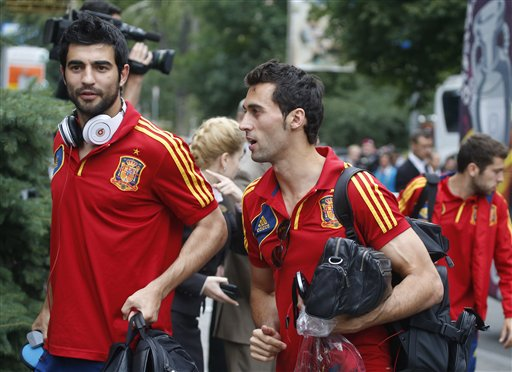 Soccer Euro 2012 Training Spain