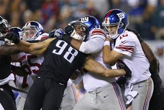 Connor Barwin, Will Beatty, Eli Manning, Trent Cole