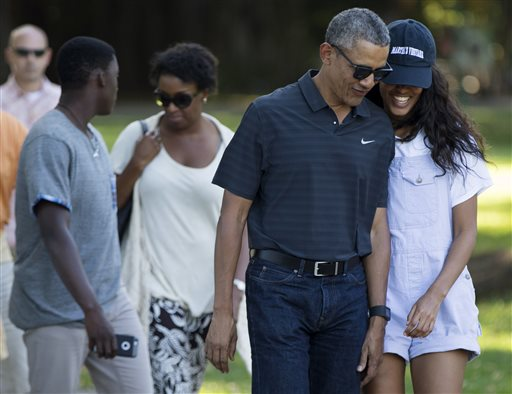 The Latest Obamas Leave Hawaii For Washington After 2