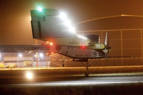 APTOPIX Morocco Solar Plane