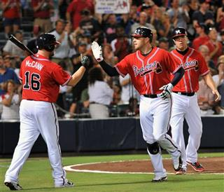 Brian McCann, Freddie Freeman, Chipper Jones