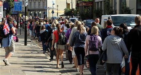 London Olympics Crowds Lines