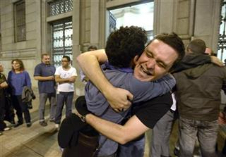 APTOPIX Uruguay Gay Marriage