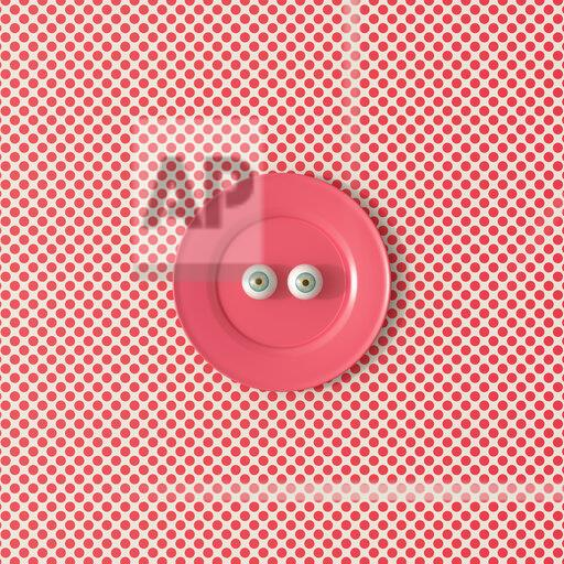 3D rendering, Staring eyeballs on a red plate