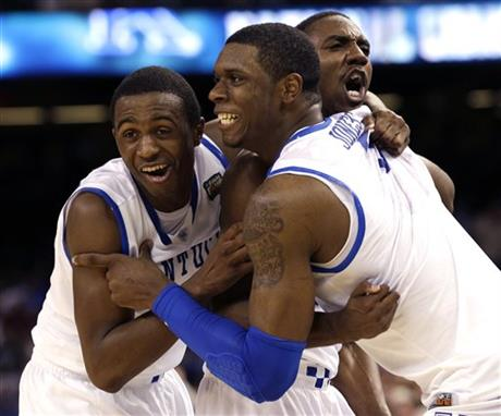 APTOPIX Final Four Kentucky Kansas Basketball