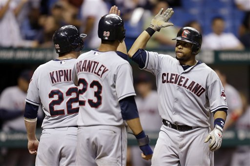 Carlos Santana, Jason Kipnis, Michael Brantley