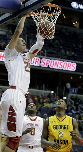 Maryland's Alex Len,  Johnny Williams,  Charles Mitchell