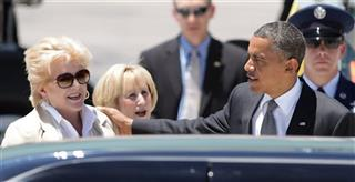 Barack Obama,  Carolyn Goodman, Susan Brager