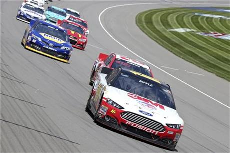 NASCAR Biffle Win Auto Racing