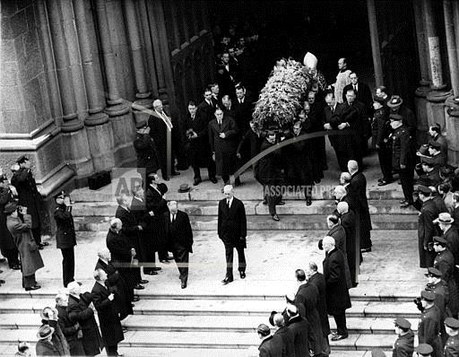 Associated Press Sports New York United States FUNERAL YANKEE OWNER RUPPERT