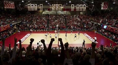 Nebraska Coliseum Closing Volleyball
