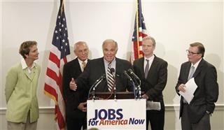Ed Rendell, Gerald McEntee, Mary Kay Henry, Chris Van Hollen, Paul Tonko