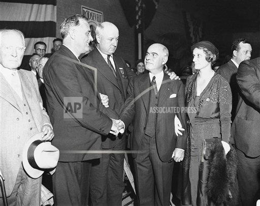 Watchf Associated Press Domestic News Election campaigns New York United States APHS123856 FDR And Lehman 1932