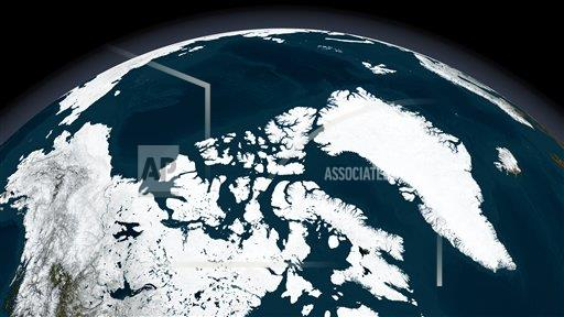 Creative AP T    horizontal View over Greenland and the Arctic Ocean.