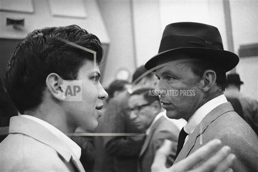 Watchf AP A  CA USA APHS307667 Frank Sinatra Jr with his father Frank Sinatra