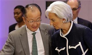 Jim Yong Kim, Christine Lagarde,